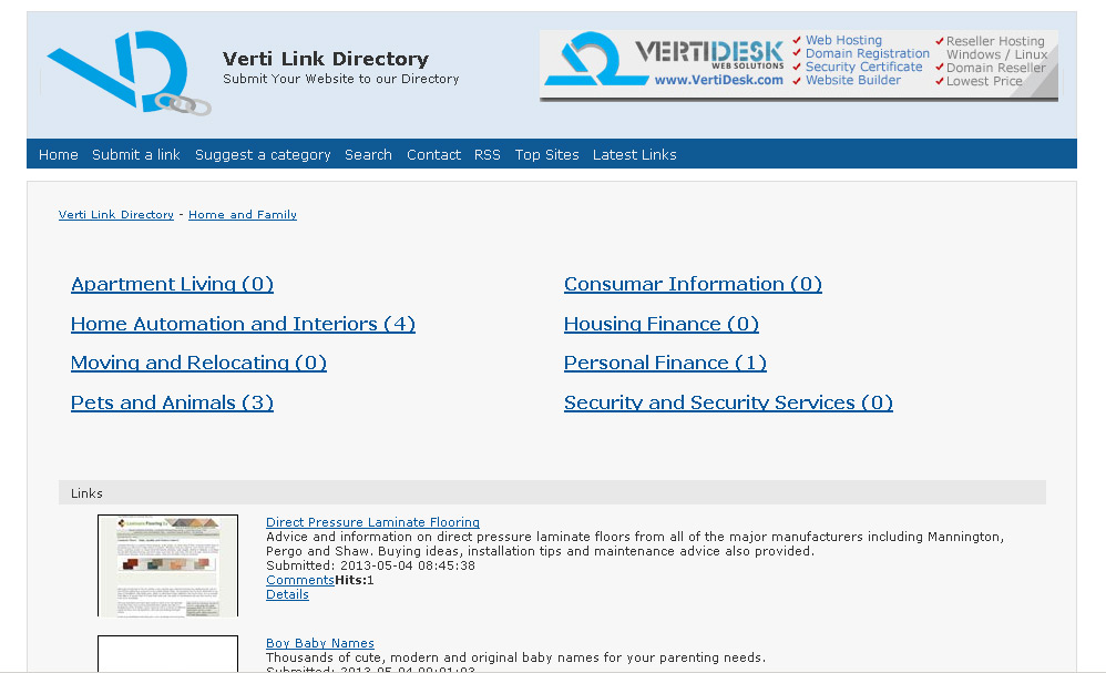 Verti Link Directory – Submit your link