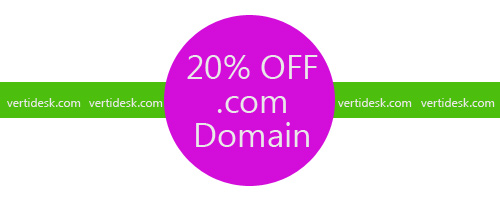 20% OFF on new .com domain