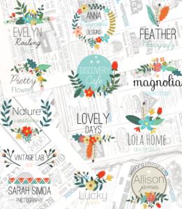Premade-Floral-Logos-B