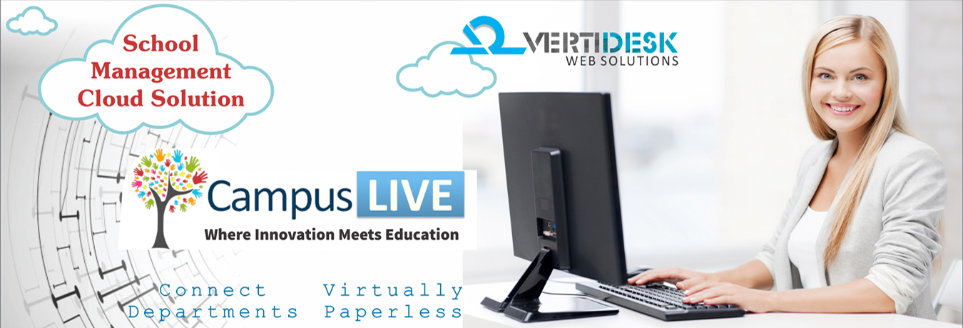 Web application products - CampusLive School, College or University Management Application. Manage day to day operations on the go. Virtually paperless, Connects Departments