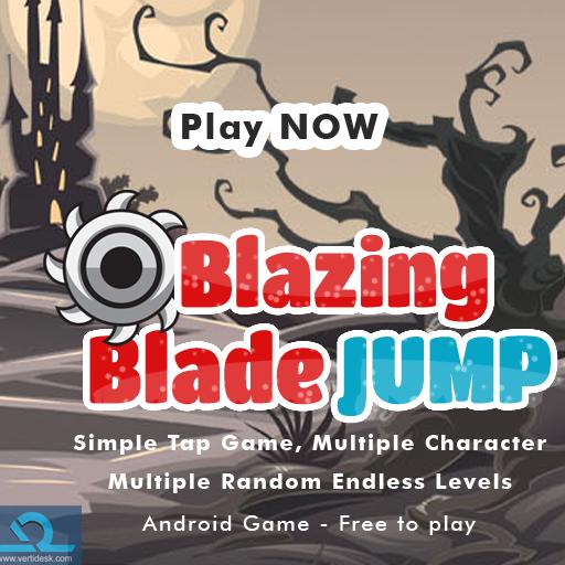 Blazing Blade Jump game
