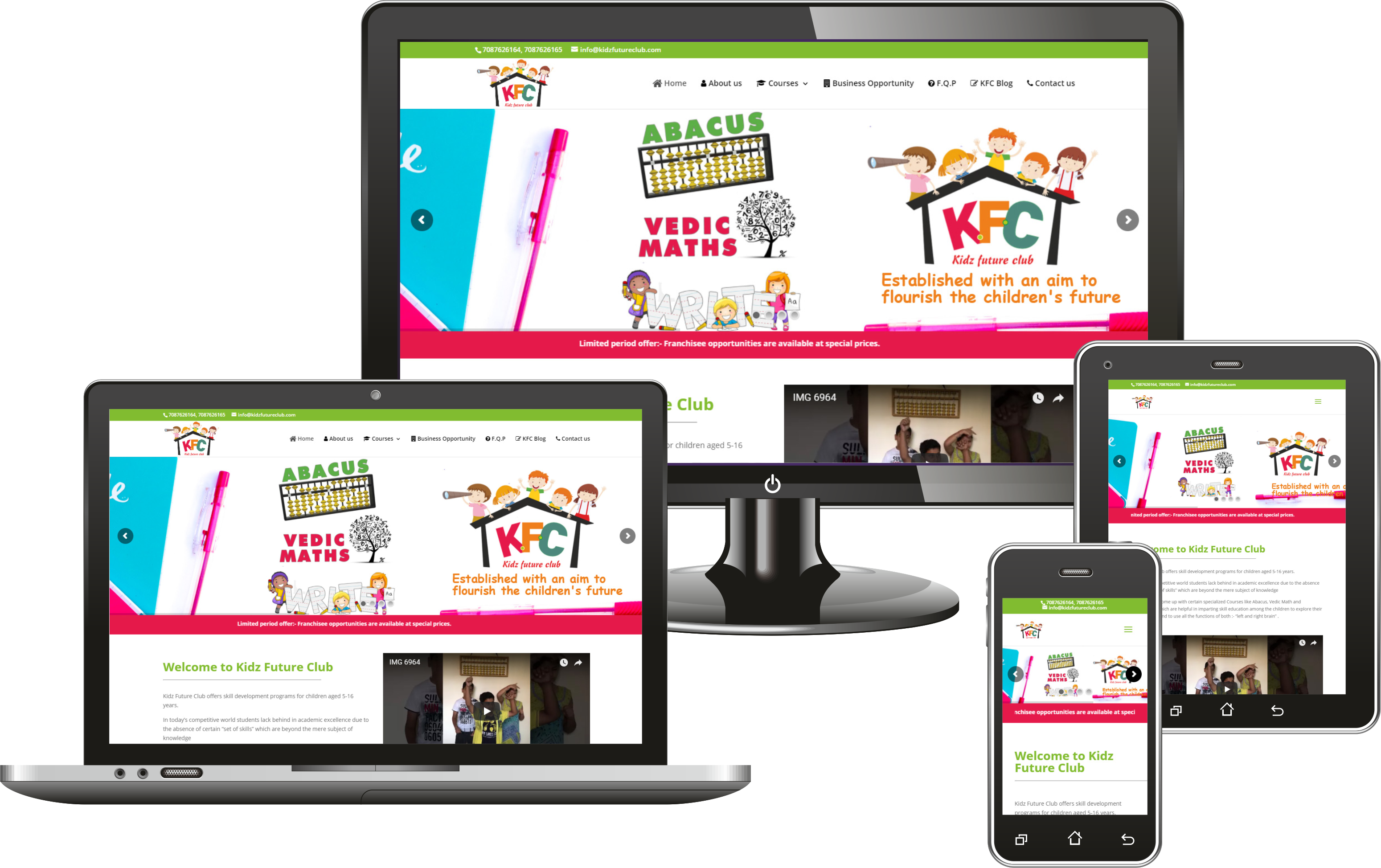 Project Portfolio Kidz Future Club website Designing by VertiDesk