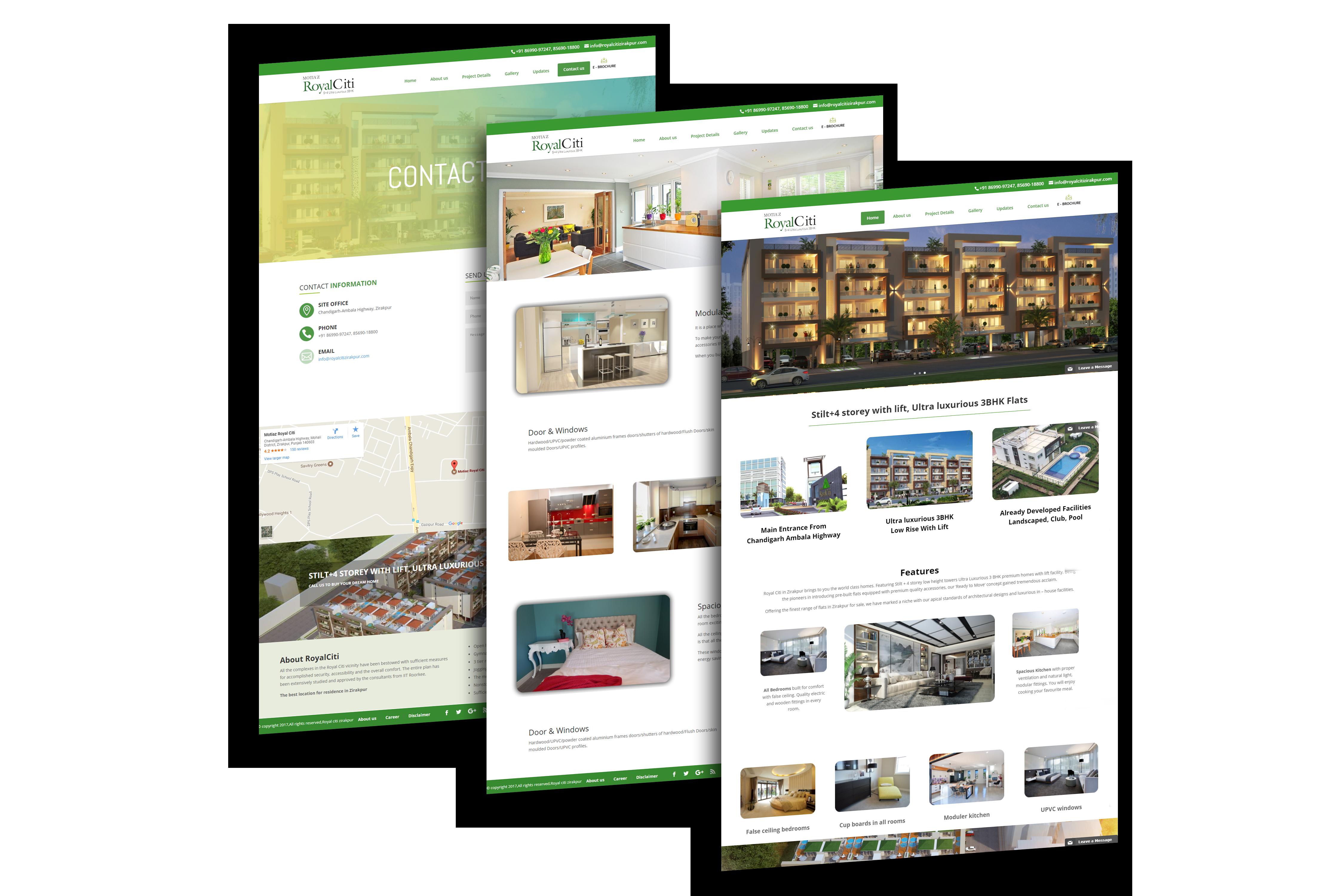 Royal Citi Zirakpur - Website built by VertiDesk