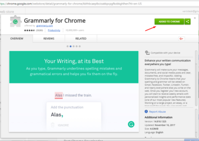Grammarly spellcheck extension Screenshot_2