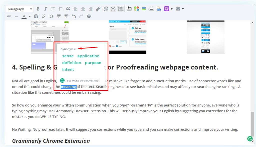 Grammarly Spellcheck Extension Screenshot 4 Vertidesk