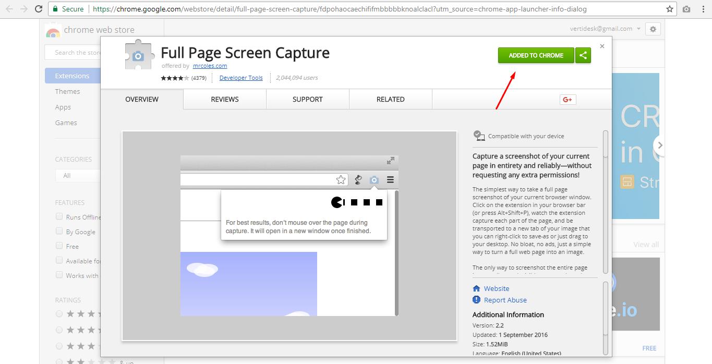 Full Page Screen Capture Chrome Extension Screenshot 1 Vertidesk