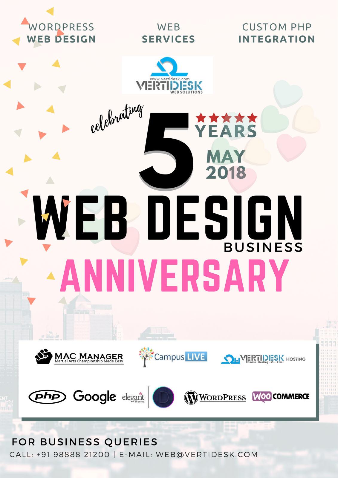 celebrating 5 years anniversary may 2018 vertidesk